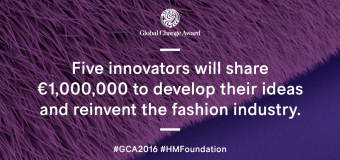 H&M Foundation Global Change Award 2017 – Win a share of €1,000,000 Grant!