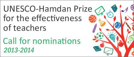 Nominations Invited for UNESCO-Hamdan Prize 2013-2014