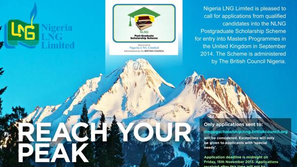 NLNG Post-graduate Scholarship Scheme for Nigerians 2014