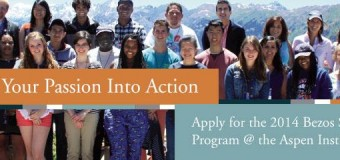 Apply for the 2014 Bezos Scholars Program at the Aspen Institute (Fully-funded)