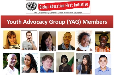 Apply to Join the Youth Advocacy Group for UN's Global Education First Initiative