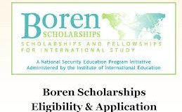 Boren Scholarships for U.S. Students to Study Abroad