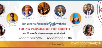 Facebook Live Chat with Opportunity Desk's Young Persons of the Month – Join Us