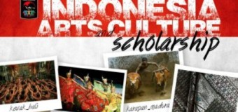 2014 Indonesian Arts And Culture Scholarship