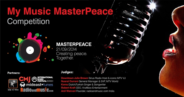 """2014 """"My Music MasterPeace"""" Competition for Musicians Worldwide"""