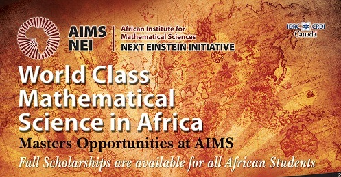 2014-15 AIMS Masters Programme – Full Scholarships for Africans