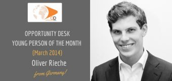 OpportunityDesk March 2014 Young Person of the Month – Oliver Rieche from Germany