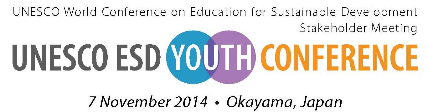 2014 UNESCO ESD Youth Conference in Japan!