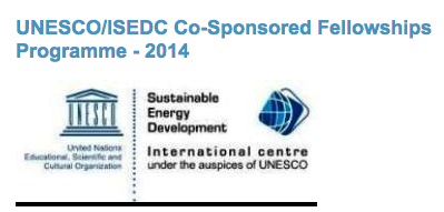 Apply for the 2014 UNESCO/ISEDC Co-Sponsored Fellowships Programme