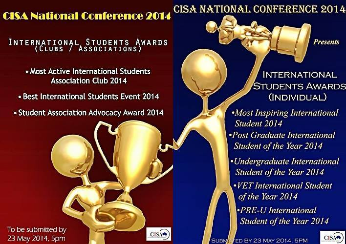 CISA 2014 Excellence Awards for International Students (Undergraduates and Postgraduates)