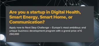 Next Step Challenge – International Competition for Startups (EUR 250,000 prize)