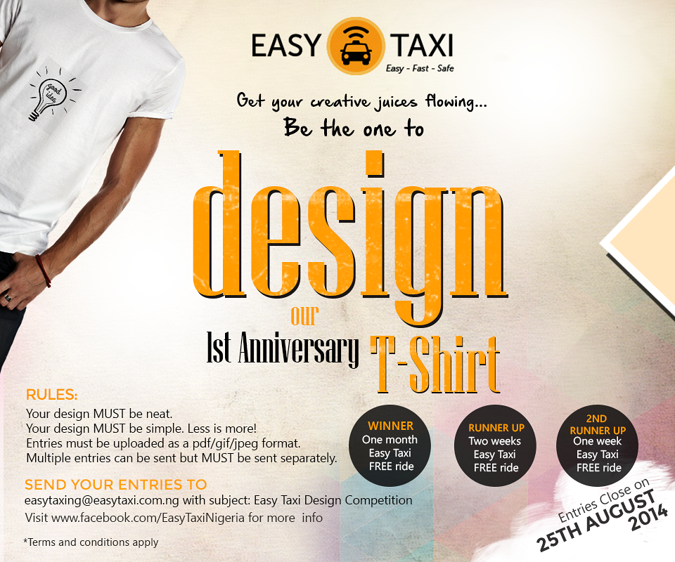 Enter Easy Taxi Nigeria's T-Shirt Design Contest 2014