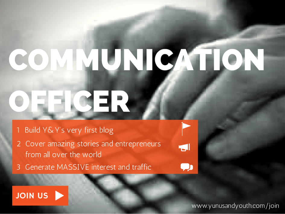 Internship Opportunity at Yunus and Youth – Global Communication Officer