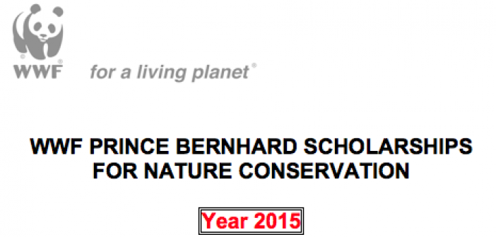 WWF Prince Bernhard Scholarships for Nature Conservation 2015