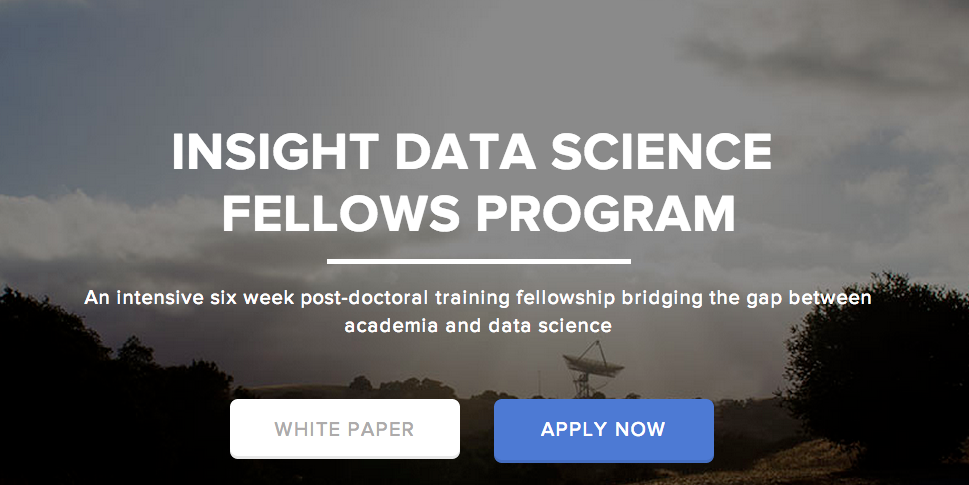 2016 Insight Data Science Fellows Program – New York and Silicon Valley