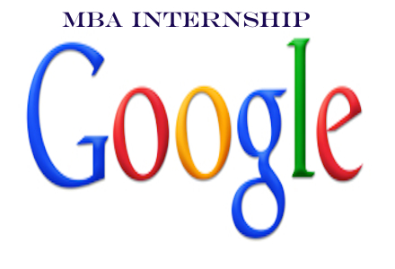 Google MBA Internship 2015