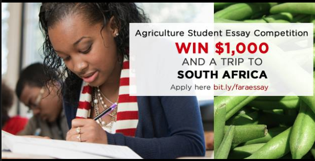 FARA Agriculture Student Essay Competition – Win $1000 and a trip to South Africa