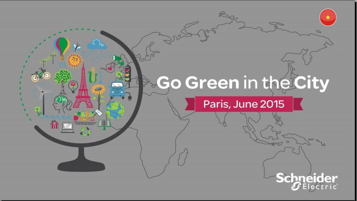 """Go Green in the City"" 2015 with Schneider Electric – Win a Career & Travel Opportunity!"