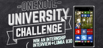 Enter the OneNote University Challenge 2015 – Win an Internship Interview at Microsoft in the Netherlands + Lumia 830