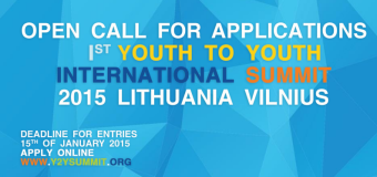 Apply to attend the 1st International Youth to Youth (Y2Y) Summit 2015 – Vilnius, Lithuania