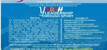 2015 International Youth Exchange Program For Nigerians and South Africans