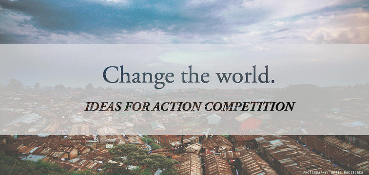 Ideas for Action Youth Competition 2015 by World Bank Group and the Wharton School