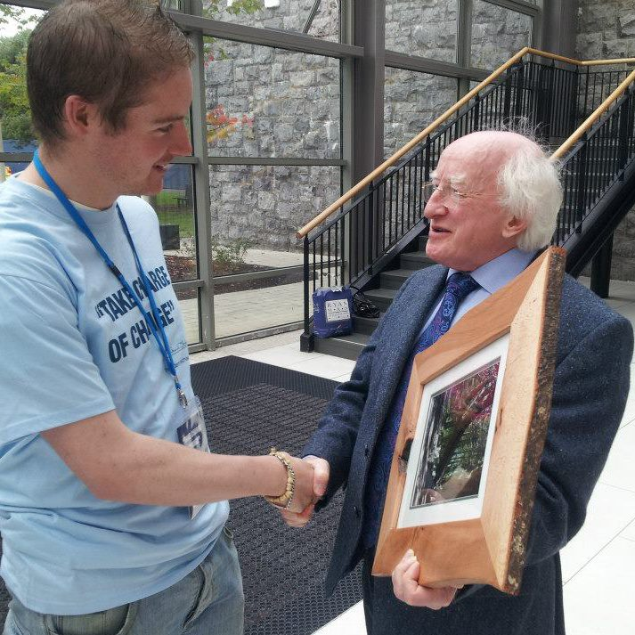 Adrian with President of Ireland