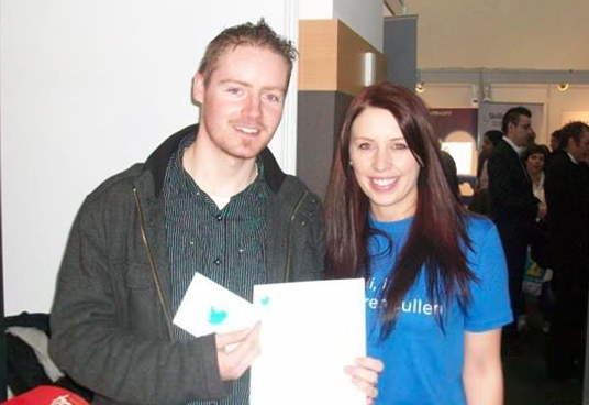 Adrian with a Twitter Staff in Dublin, Ireland