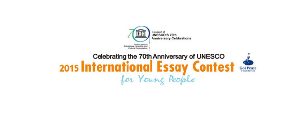 goi peace essay contest 2012 Theme guidelines deadline award 2012 goi peace foundation a, unesco international essay contest for young people organized by the goi peace foundation and unesco.