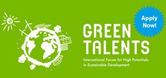 Green Talents Competition for Young Researchers 2015 (Win a fully-funded trip to Germany)