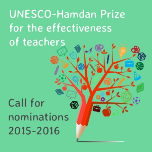 Nominations Open: UNESCO-Hamdan Prize 2015-16