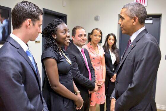 Adepeju with President Obama