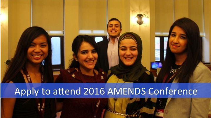 Apply to attend the AMENDS Conference 2016 – Stanford University, CA (fully-funded)