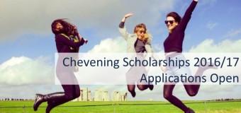 Chevening Masters Scholarship to Study at any UK University 2016/2017