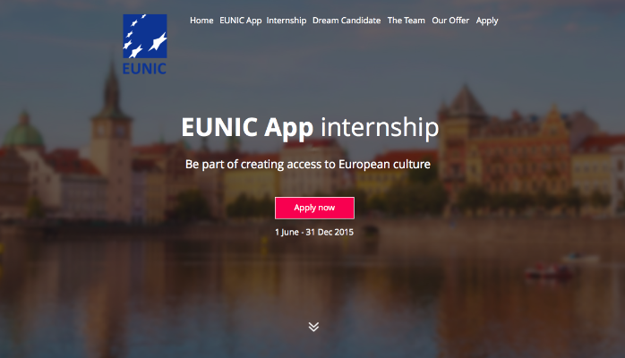 2015 EUNIC App Internship – Prague, Czech Republic