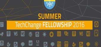 TechChange Summer Fellowship 2016 – $2,000 monthly stipend