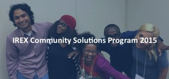 IREX Community Solutions U.S. Fellowship Program 2015 (fully-funded)