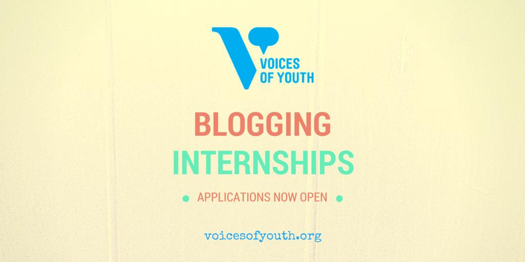UN Voices of Youth Blogging Internship 2015-16