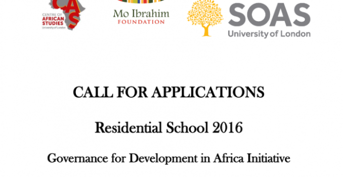 Apply for the Residential School 2016 – Marrakech, Morocco