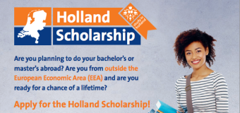 Holland Scholarship 2016 for Bachelor's and Master's Study in the Netherlands