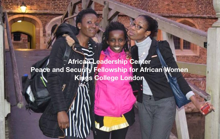 ALC Peace and Security Fellowship for African Women 2016 – King's College London