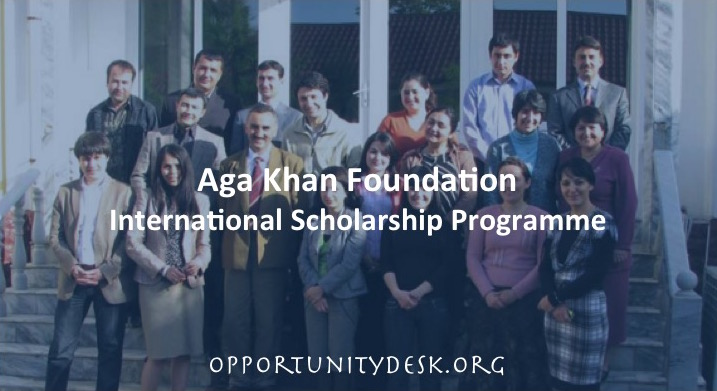 Aga Khan Foundation International Scholarship Programme 2016