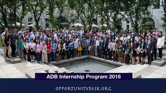 Asia Development Bank Internship Program 2016 – Manila, Philippines
