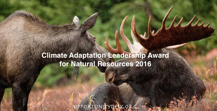 Climate Adaptation Leadership Award for Natural Resources 2016