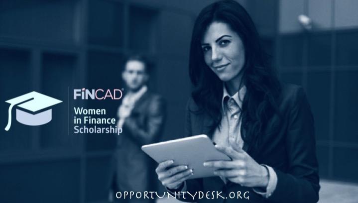 FINCAD Women in Finance Scholarship 2016 (US$10,000 award for Studies)
