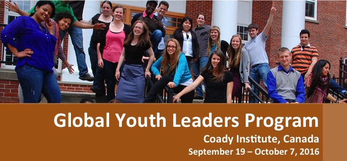 Global Youth Leaders Program 2016 at Coady Institute, Canada (Scholarships Available)