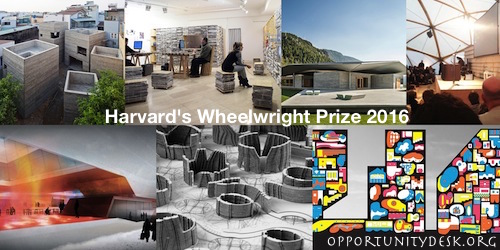 Harvard's Wheelwright Prize 2016 – $100,000 Award for Emerging Architects