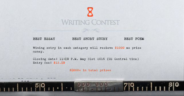 Hourglass Literary Magazine's International Writing Contest 2016 – $5,000+ in prizes