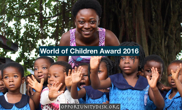 World of Children Award 2016 for Individuals – Win $50,000 and a trip to New York City!