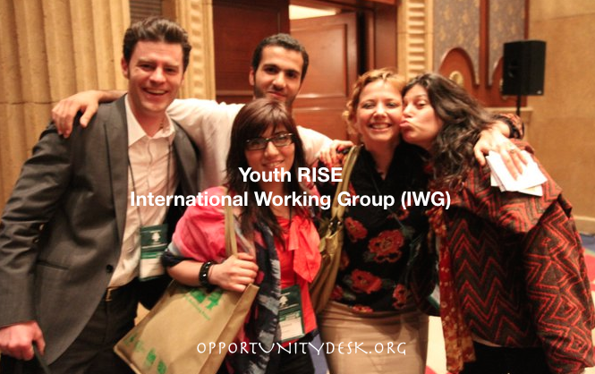 Apply to join Youth RISE's International Working Group 2016